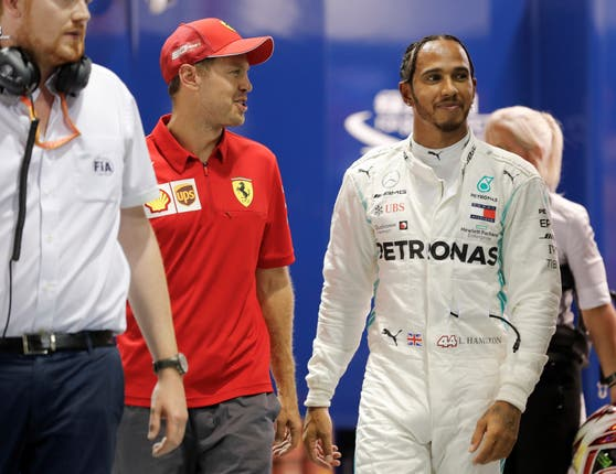 Hamilton congratulated Vettel on his victory