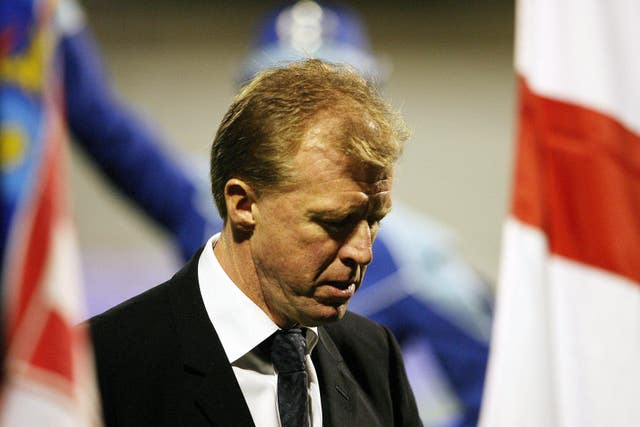 Steve McClaren was England manager for both of the Euro 2008 qualifying clashes with Croatia.