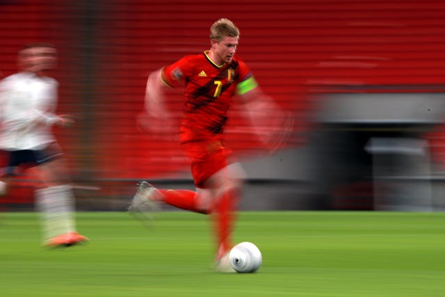Belgium's Kevin De Bruyne was not firing on all cylinders against England last month