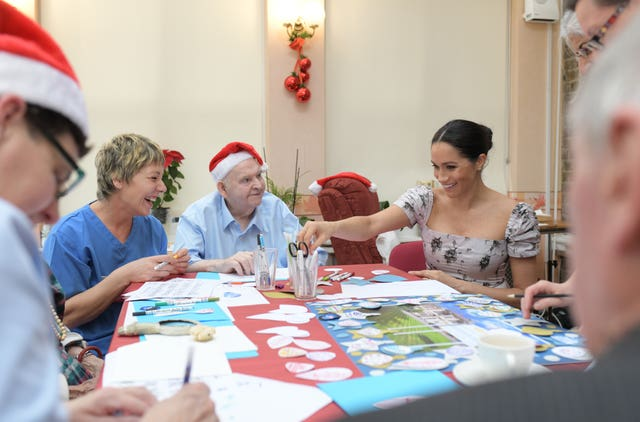 Meghan at the Royal Variety Charity care home
