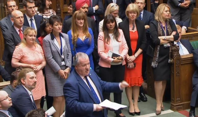 Ian Blackford speaks in the House of Commons during Prime Minister's Questions