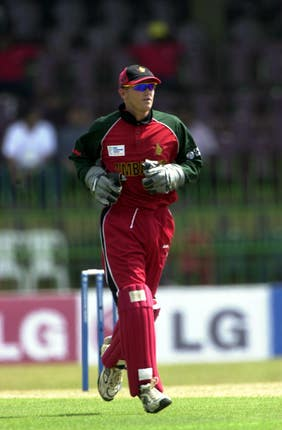 Andy Flower in action for Zimbabwe