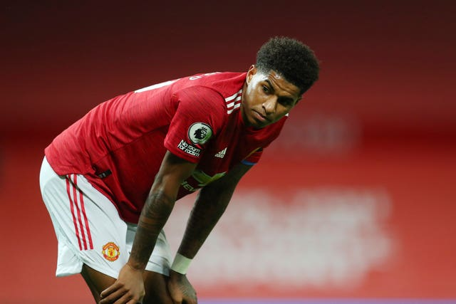 Marcus Rashford has been struggling with a shoulder problem