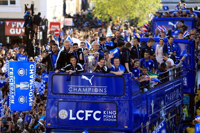 Leicester City 2015/16 Barclays Premier League Champions Parade