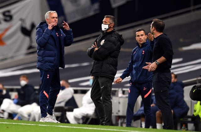 Jose Mourinho and Frank Lampard clashed in a Carabao Cup tie at Tottenham Hotspur Stadium earlier this season