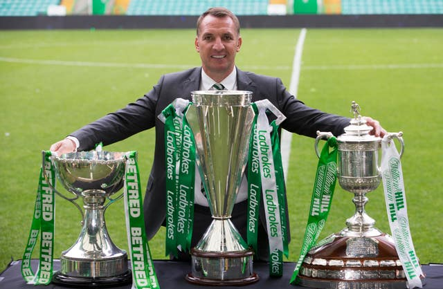 Brendan Rodgers won seven trophies during his time in charge of Celtic