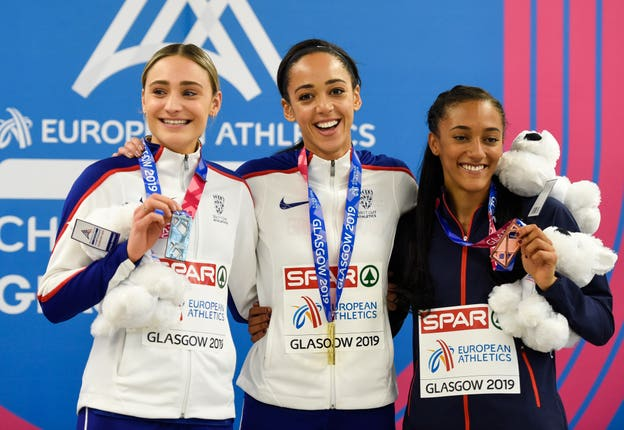 Johnson-Thompson won gold in the women's pentathlon at the European Indoor Athletics Championships in March