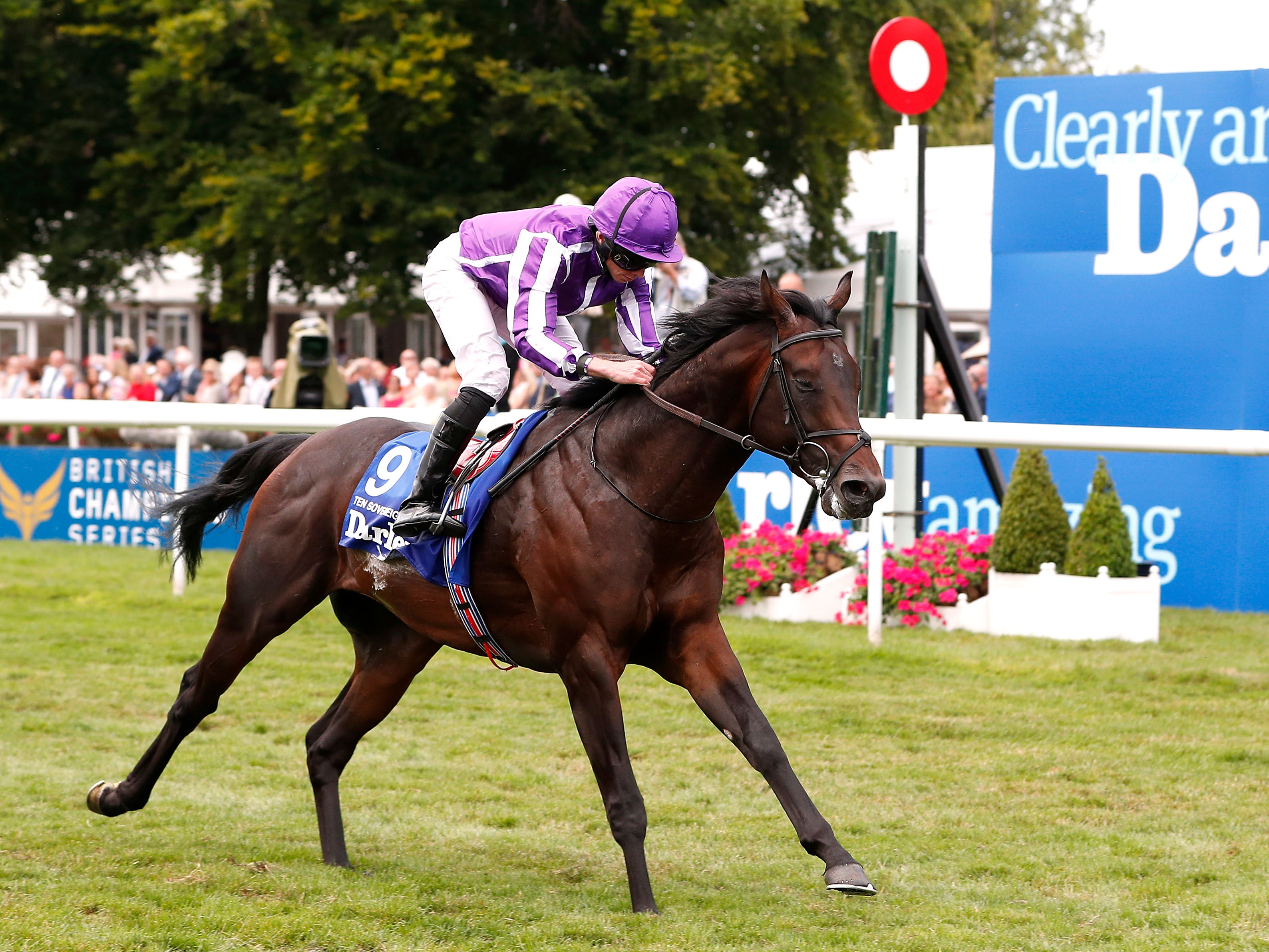 Ten Sovereigns won the Darley July Cup at Newmarket (Darren Staples/PA)