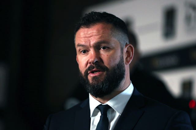 Ireland coach Andy Farrell has spoken to son Owen about Saracens' relegation