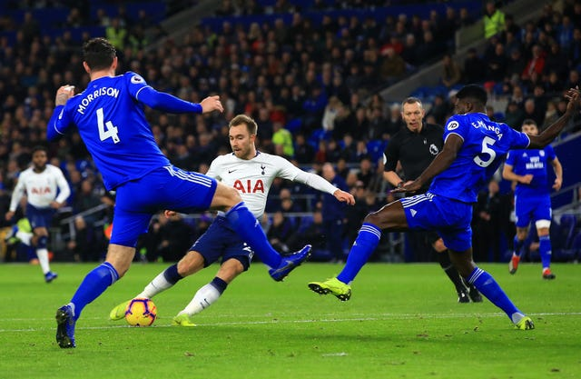 Christian Eriksen fires home the second