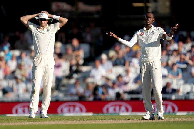 Stuart Broad (left) and Jofra Archer (right) are struggling with illness.