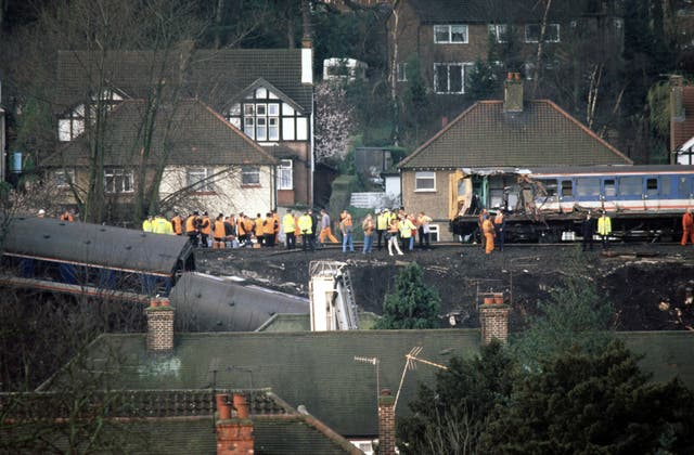 Scene of the Purley train crash