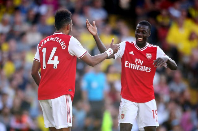 Emery will be hoping Pepe and Pierre-Emerick Aubameyang can forge an understanding on the pitch.