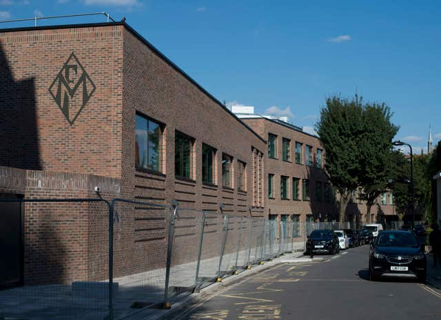 A new school building for the Maria Fidelis Catholic School FCJ, which has been built on the site of 1-39 Drummond Crescent, Euston, London, land which was sold by the Metropolitan Police for £12.9 million in 2014