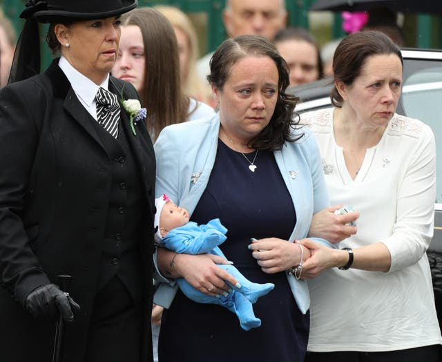 Tracey Taundry at Mylee's funeral