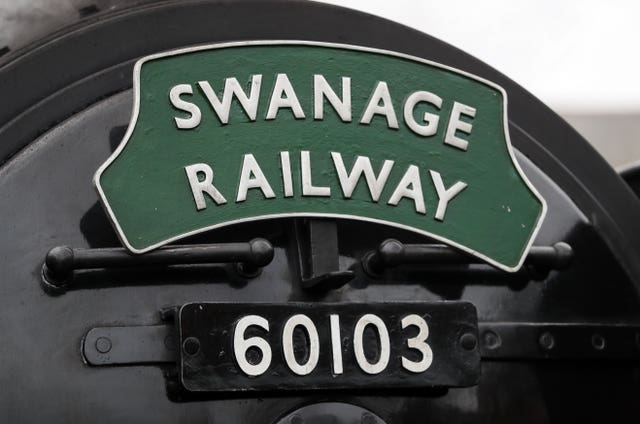 Flying Scotsman railway signage