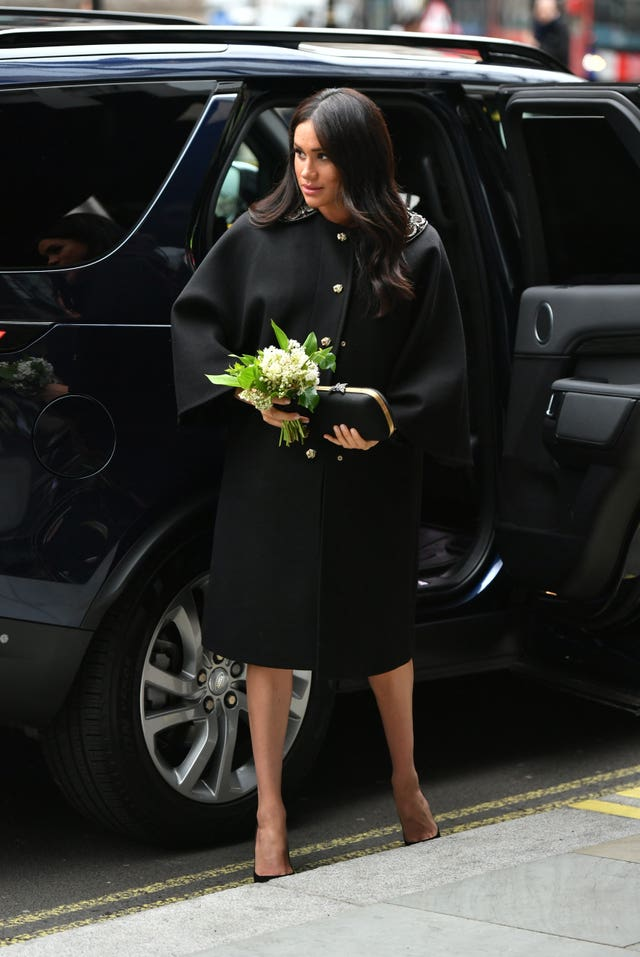 The Duchess of Sussex arrives at New Zealand House in London