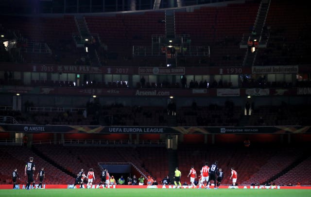 A sparse crowd saw Emery's final game