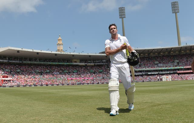 Leaves the field for the last time as an England batsman during the Ashes whitewash in Australia in 2014