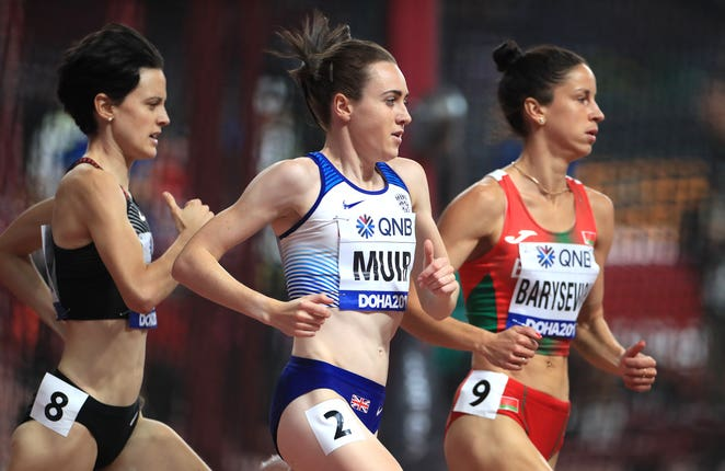 Laura Muir progressed in the 1500m