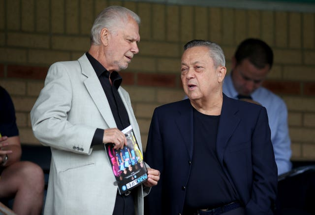 West Ham owners David Gold, left, and David Sullivan pay £2.5m a year in rent on the London Stadium