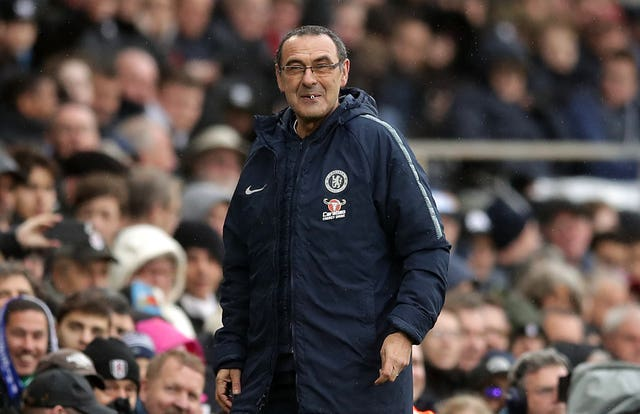 Maurizio Sarri has his sights set on a top four finish