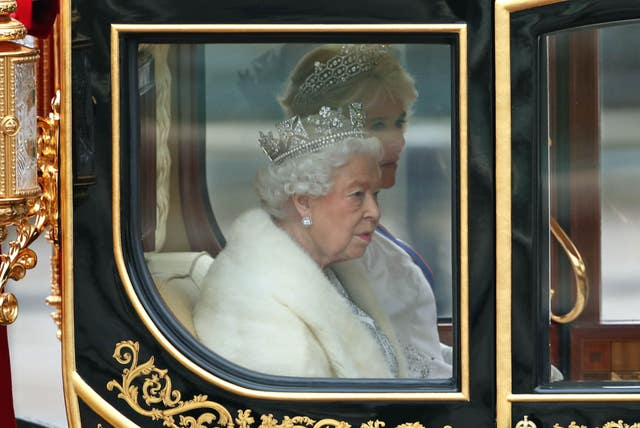 The Queen leaves Buckingham Palace