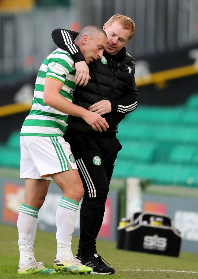 Scott Brown and manager Neil Lennon were among those to miss the game