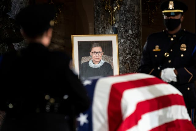 The death of Ruth Bader Ginsburg created a vacancy in the court (Erin Schaff/AP)