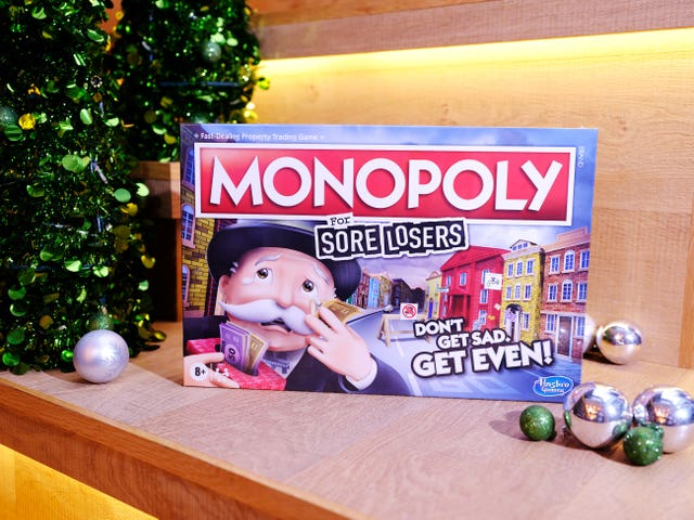 Monopoly For Sore Losers which has been named on his year's Christmas DreamToys list (Toy Retailers Association/PA)