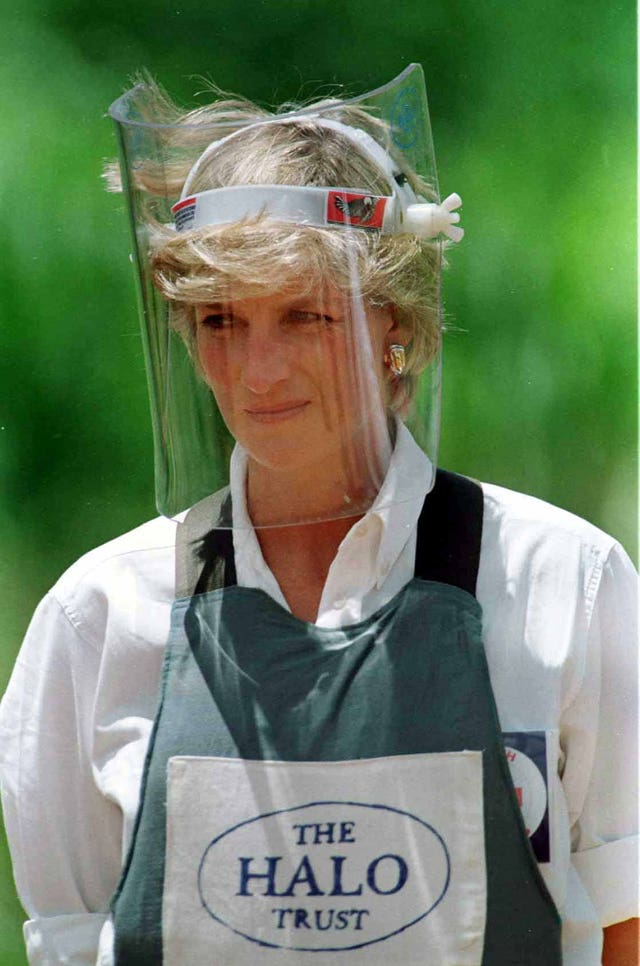 Diana, Princess of Wales pictured during her visit to Angola in January 1997