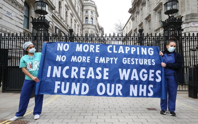 Nurses' pay campaigners