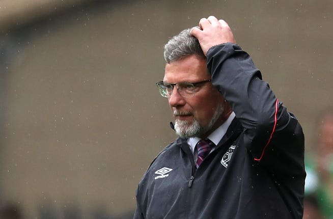 Hearts had only won one Ladbrokes Premiership game under Craig Levein this term