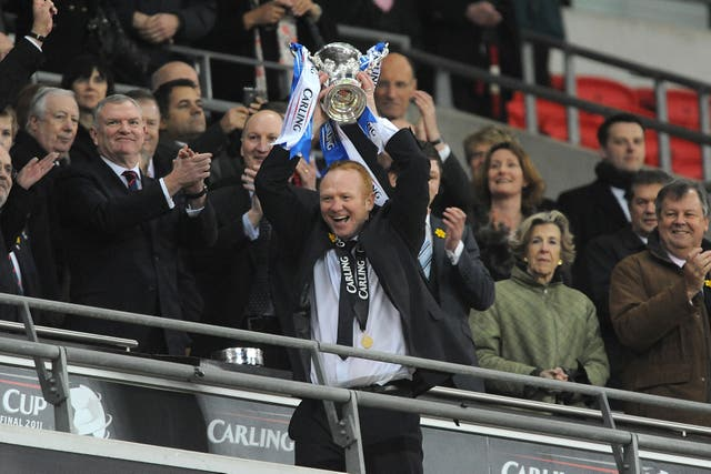 Alex McLeish won the League Cup with Birmingham