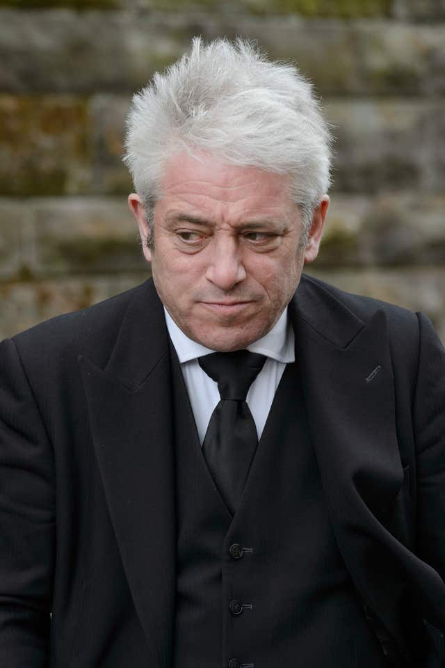 John Bercow was among mourners attending the Glasgow service (John Linton/PA)