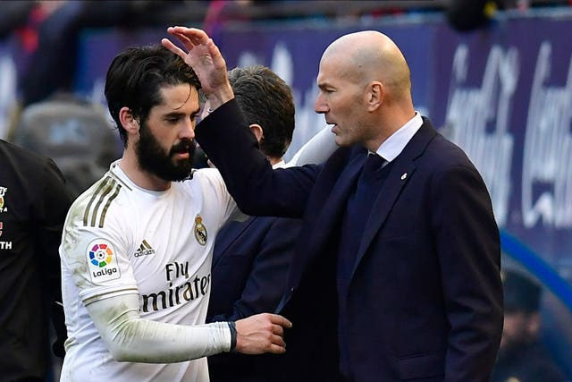 Real Madrid's Isco, left, struggled for game time during the first half of the season
