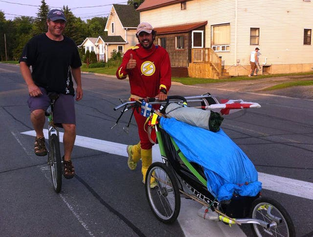 Jamie McDonald has previously run across Canada pushing a buggy and dressed in a superhero costume (Jamie McDonald/PA)