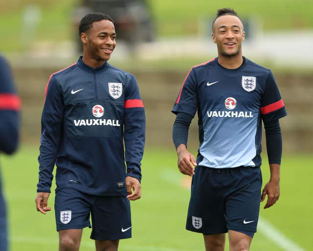 Raheem Sterling, left, and Nathan Redmond, right, were team-mates for England Under-21s
