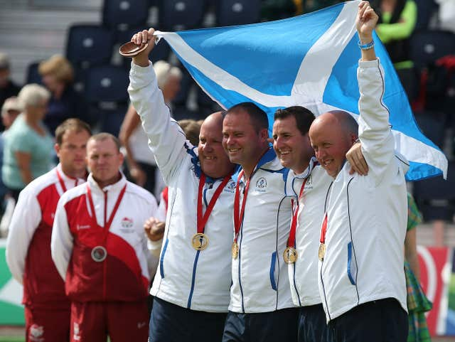 Scotland's men's fours claim their gold medals