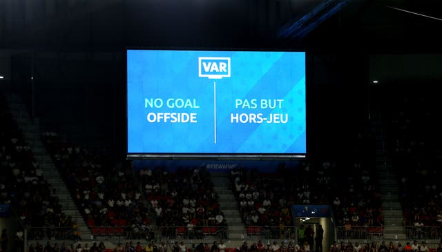 The VAR Screen shows that White's second goal of the game is disallowed