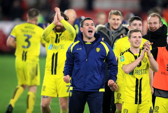 Nigel Clough has guided Burton into the last four