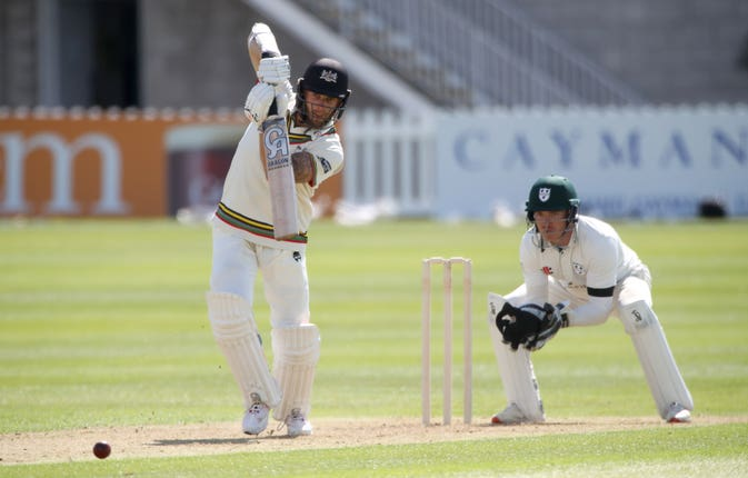 Gloucestershire's Chris Dent was eight short of a century against Worcestershire in the Bob Willis Trophy
