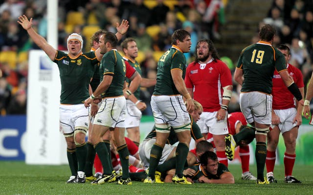 Rugby Union – IRB Rugby World Cup 2011 – Pool D – South Africa v Wales – Wellington Regional Stadium