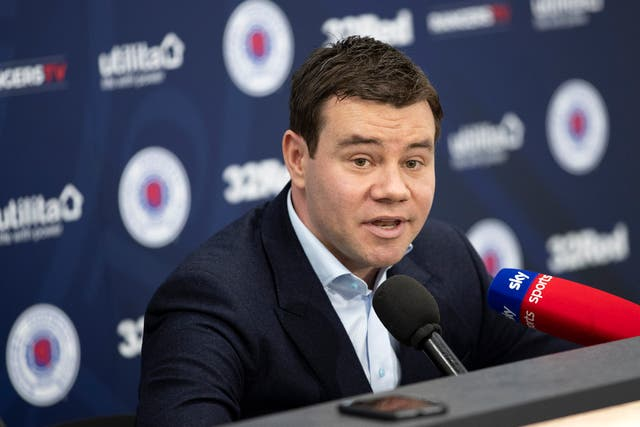Ross Wilson joined Rangers as sporting director last year