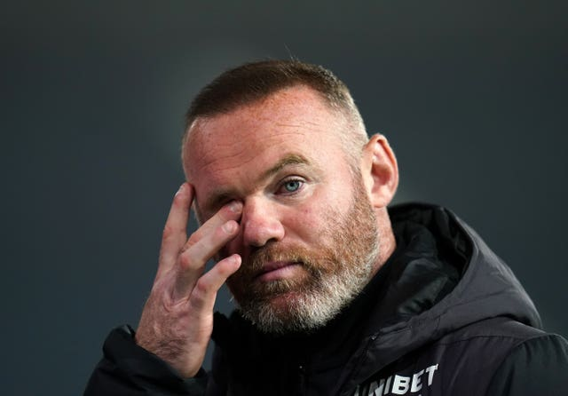 Derby manager Wayne Rooney