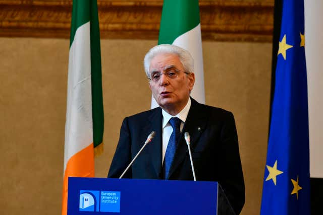 Italy's President Sergio Mattarella has not yet confirmed the appointment of the new prime minister (Claudio Giovannini/AP)