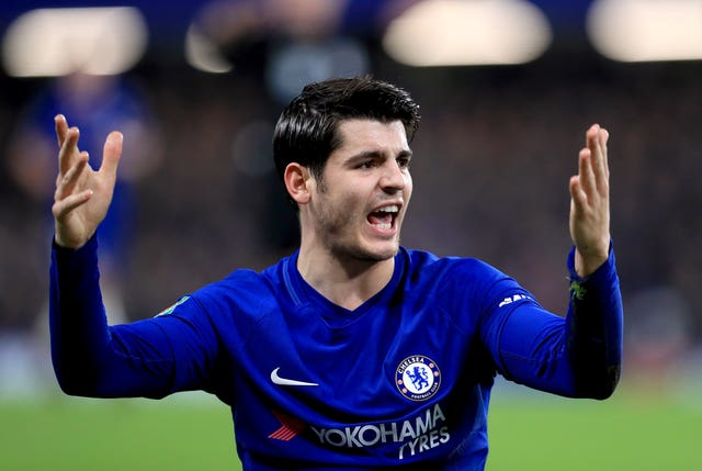 Out-of-form striker Alvaro Morata is currently sidelined