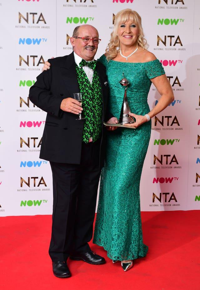 Brendan O'Carroll and wife Jennifer Gibney