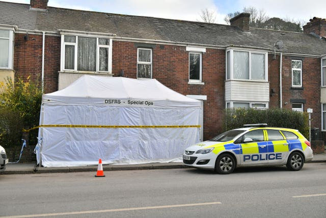 A house on Bonhay Road, Exeter, where the body of Anthony Payne, 80, was discovered on Monday afternoon (Ben Birchall/PA)