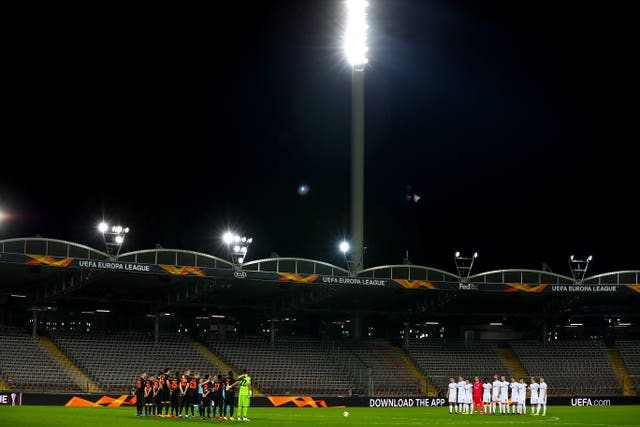 The match was played behind closed doors a the Linzer Stadion in Linz
